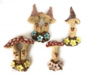 Wall Mushrooms - set of 4